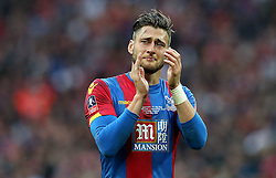 Joel Ward of Crystal Palace cries after losing in the FA Cup Final - Mandatory by-line: Robbie Stephenson/JMP - 21/05/2016 - FOOTBALL - Wembley Stadium - London, England - Crystal Palace v Manchester United - The Emirates FA Cup Final