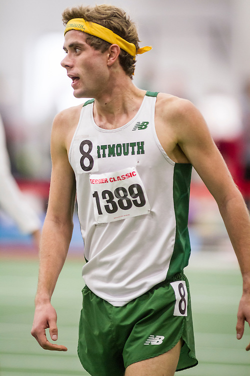 Boston University Terrier Classic indoor track & field meet, Will Geoghegan, Dartmouth, wins mile in 3:35