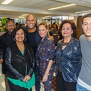 NLD/Hilversum/20180114 - opening Personal Power Gym Hilversum, Mark Dakriet, partner Sakia en zoon Eja, zijn vader en moeder