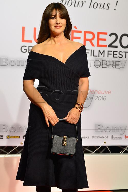 Monica Bellucci<br /> Lyon 8 oct 2016 - Festival Lumi&egrave;re 2016 - C&eacute;r&eacute;monie d&rsquo;Ouverture<br /> 8th Film Festival Lumiere In Lyon : Opening Ceremony