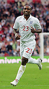 Jermain Defoe goal celebration during the international friendly match between England and Slovenia at Wembley Stadium, London on the 5th September 2009
