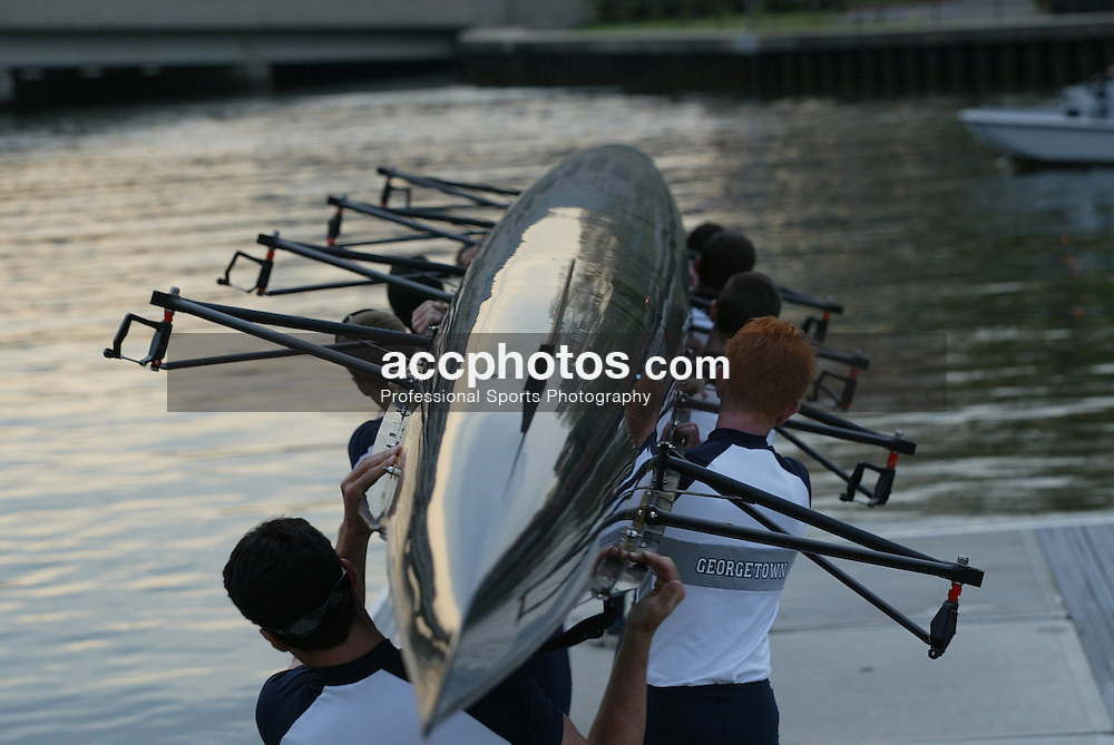 20 April 2002:  Georgetown Crew vs. Navy and Fordham (lightweights only) at Naval Academy in Annapolis, MD.<br />
