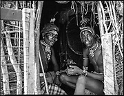 Samburu Men at home, Kenya, July, 2002