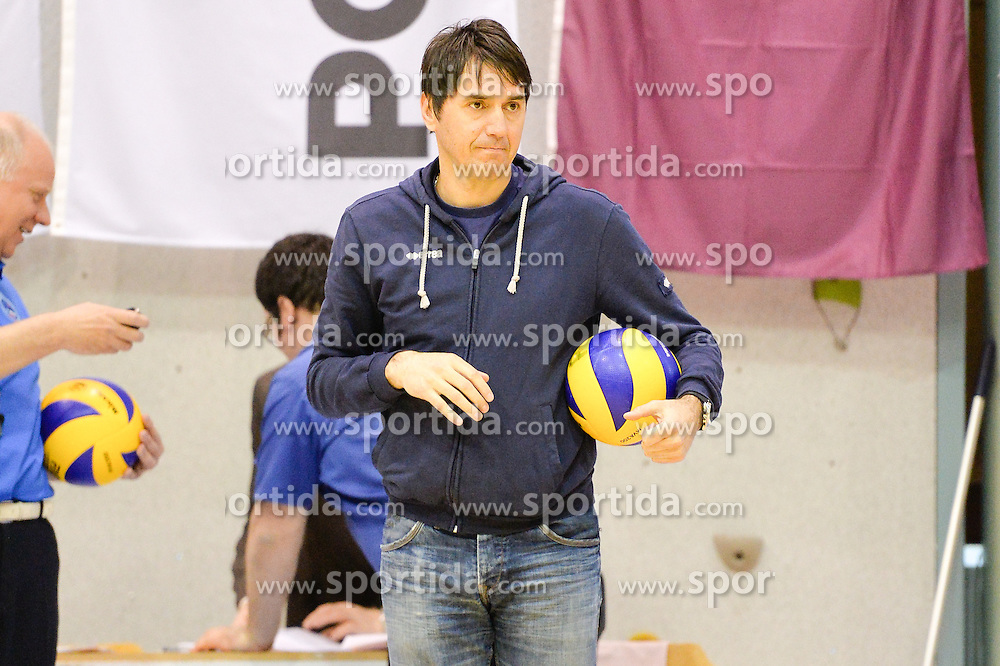 Dejan Fujs, head coach of Panvita Pomgrad  during volleyball game between OK Panvita Pomgrad and ACH Volley in 2nd semifinal match of  Slovenian National Championship 2015, on April 5, 2015 in Murska Sobota, Slovenia. Photo by Mario Horvat / Sportida