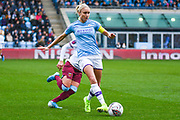 Manchester City Women defender Steph Houghton (captain) (6) passes the ball during the FA Women's Super League match between Manchester City Women and West Ham United Women at the Sport City Academy Stadium, Manchester, United Kingdom on 17 November 2019.
