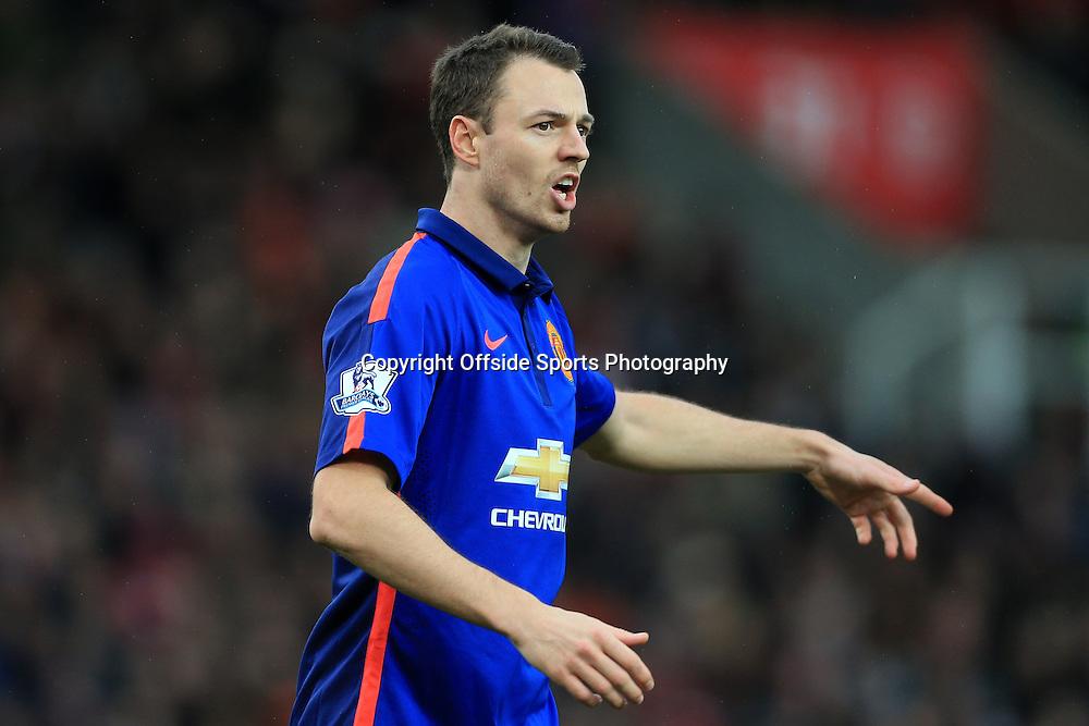 1st January 2015 - Barclays Premier League - Stoke City v Manchester United - Jonny Evans of Man Utd - Photo: Simon Stacpoole / Offside.