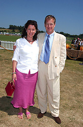 LORD & LADY IVAR MOUNTBATTEN at the Veuve Clicquot sponsored Gold Cup Final or the British Open Polo Championship held at Cowdray Park, West Sussex on 17th July 2005.<br /><br />NON EXCLUSIVE - WORLD RIGHTS
