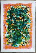 "Laki Senanayake. <br /> ""Magic Carpet""<br /> Water Colour on paper.<br /> 18"" x 12""<br /> <br /> No: 9<br /> GRN 263257/14/6/19"