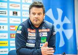 Peter Pen during press conference of Slovenian Alpine Ski team and coaching team for new season 2019/20, on May 6th, 2019, in SZS, Ljubljana, Slovenia. Photo by Vid Ponikvar / Sportida