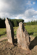 Laggangairn (Laggangarn) Standing Stones. Two standing stones which may have originally been part of a larger stone circle. Christian crosses were added at a later date, probably in the 6th or 7th centuries AD.