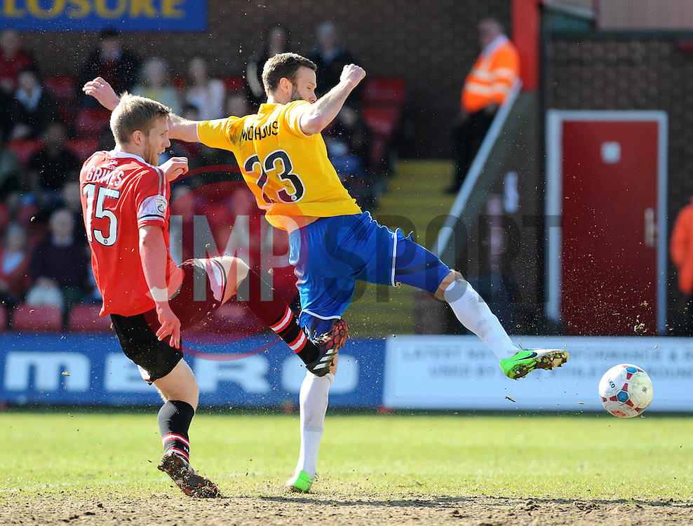 Bristol Rovers' Andy Monkhouse - Photo mandatory by-line: Neil Brookman/JMP - Mobile: 07966 386802 - 06/04/2015 - SPORT - Football - Kidderminster - Aggborough - Kidderminster v Bristol Rovers - Vanarama Football Conference