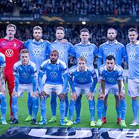 2019-10-03 | Malmö, Sweden: Malmö FF before the game between Malmö FF and FC Köpenhamn at Swedbank Stadion ( Photo by: Roger Linde | Swe Press Photo )<br /> <br /> Keywords: Swedbank Stadion, Malmö, Soccer, Europa League, Malmö FF, FC Köpenhamn, mk191003, mfffck, uel