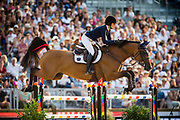 Paris, France : Jessica Springsteen riding RMF Zecilie during the Longines Paris Eiffel Jumping 2018, on July 5th to 7th, 2018 at the Champ de Mars in Paris, France - Photo Christophe Bricot / ProSportsImages / DPPI