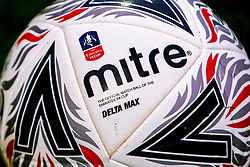 FA Cup match ball - Mandatory by-line: Ryan Crockett/JMP - 09/11/2019 - FOOTBALL - One Call Stadium - Mansfield, England - Mansfield Town v Chorley - Emirates FA Cup first round