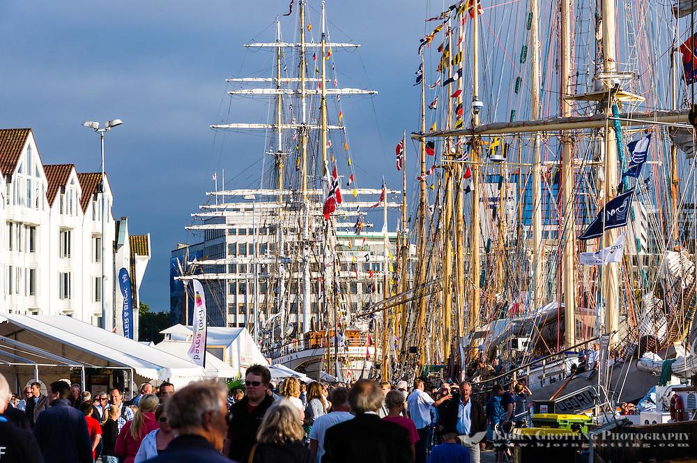 Norway, Stavanger. Tall Ships Race in Stavanger 2011. Skagenkaien.