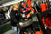 Euroskills 2008 Rotterdam - EuroSkills, a new European profession event, where young people in an addressing manner live their (future) profession and training.<br /> <br /> On the Photo: <br />  Youg people showing/ learning skills