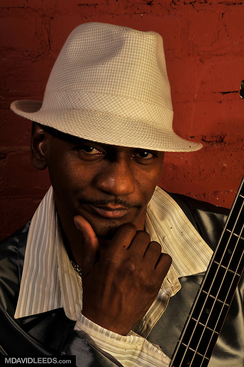 """April 13, 2008: A portrait of Victor Bailey taken during the """"Slippin' N' Trippin'"""" sessions, with photographer M David Leeds, in Brooklyn, NY."""