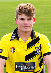Brandon Glimour of Gloucestershire Cricket poses for a headshot in the NatWest T20 Blast kit - Mandatory by-line: Robbie Stephenson/JMP - 04/04/2016 - CRICKET - Bristol County Ground - Bristol, United Kingdom - Gloucestershire  - Gloucestershire Media Day