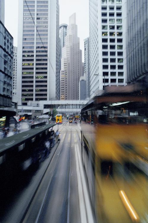 Trams. Hong Kong, China. 1998