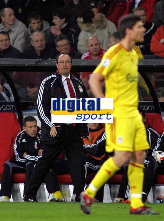 Photo: Paul Thomas.<br />PSV Eindhoven v Liverpool. UEFA Champions League, Quarter Final, 1st Leg. 03/04/2007.<br /><br />Rafael Benitez, manager of Liverpool.