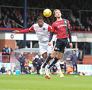 Dundee&rsquo;s Nick Ross and Ross County&rsquo;s Jamie Reckord - Dundee v Ross County - Ladbrokes Premiership at Dens Park<br /> <br />  <br />  - &copy; David Young - www.davidyoungphoto.co.uk - email: davidyoungphoto@gmail.com