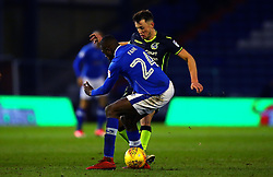 Ollie Clarke of Bristol Rovers takes on Ousmane Fane of Oldham Athletic - Mandatory by-line: Robbie Stephenson/JMP - 30/12/2017 - FOOTBALL - Sportsdirect.com Park - Oldham, England - Oldham Athletic v Bristol Rovers - Sky Bet League One