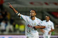 FOOTBALL - FRENCH CHAMPIONSHIP 2011/2012 - L1 - OLYMPIQUE MARSEILLE v OGC NICE  - 6/11/2011 - PHOTO PHILIPPE LAURENSON / DPPI - JOY LOIC REMY (OM) AFTER HIS GOAL