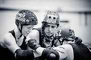 Wellington, NZ. 5 August 2017. Richter City Roller Derby.  Photo credit: Stephen A'Court.  COPYRIGHT ©Stephen A'Court