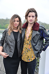 MAX HURD and ELEANOR CALDER at a party to launch the Taylor Morris Explorer Collection held at the Serpentine Lido, Hyde Park, London on 11th May 2016.