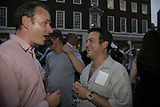 SAM CHATTERTON DICKSON AND DOUG FISHBONE, Gimpel Fils 60th Anniversary Exhibition. Davies St. London. 27 July 2006. ONE TIME USE ONLY - DO NOT ARCHIVE  © Copyright Photograph by Dafydd Jones 66 Stockwell Park Rd. London SW9 0DA Tel 020 7733 0108 www.dafjones.com