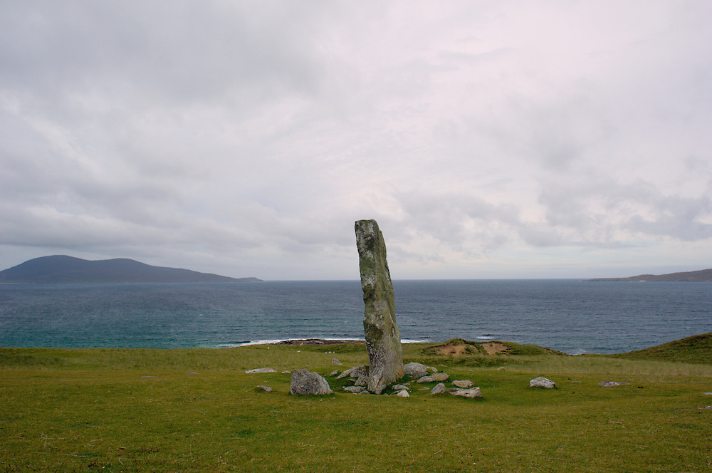 McLeod's Stone with Atlantic Ocean and Toe Head (at left)