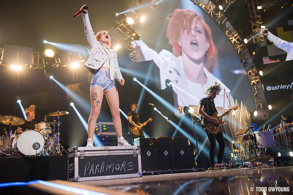 Paramore performing at the iHeartRadio Music Festival in Las Vegas, Nevada on Sepembter 20, 2014.