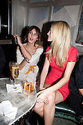 ALEXA CHUNG; POPPY DELEVIGNE, Donatella Versace celebrates the launch of the CSM 20:20 Fund, at the Connaught Hotel, Mayfair, London, 11th November, 2010. -DO NOT ARCHIVE-© Copyright Photograph by Dafydd Jones. 248 Clapham Rd. London SW9 0PZ. Tel 0207 820 0771. www.dafjones.com.