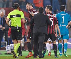 May 9, 2018 - Rome, Italy - Gennaro Gattuso during the Tim Cup Final football match F.C. Juventus vs A.C. Milan at the Olympic Stadium in Rome, on May 09, 2018  (Credit Image: © Silvia Lore/NurPhoto via ZUMA Press)