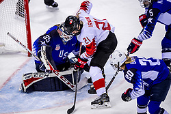 22-02-2018 KOR: Olympic Games day 13, PyeongChang<br /> Final Ice Hockey Canada - USA 2-3 / Madeline Rooney #35 of the United States, Haley Irwin #21 of Canada