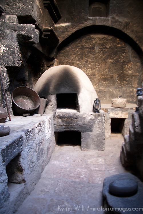 South America, Peru, Arequipa. Monasterio de Santa Catalina kitchen.
