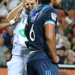 Steven Luatua been shown the red card during the Investec Super  Rugby match between the Chiefs and Blues at FMG Waikato Stadium in Hamilton, New Zealand on Friday 3 March 2017. Photo: Dion Mellow / lintottphoto.co.nz