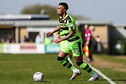 Forest Green Rovers Tahvon Campbell(25) during the EFL Sky Bet League 2 match between Forest Green Rovers and Grimsby Town FC at the New Lawn, Forest Green, United Kingdom on 5 May 2018. Picture by Shane Healey.