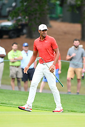 May 3, 2019 - Charlotte, NC, U.S. - CHARLOTTE, NC - MAY 03: Tony Finau on the tenth green in round two of the Wells Fargo Championship on May 03, 2019 at Quail Hollow Club in Charlotte,NC. (Photo by Dannie Walls/Icon Sportswire) (Credit Image: © Dannie Walls/Icon SMI via ZUMA Press)