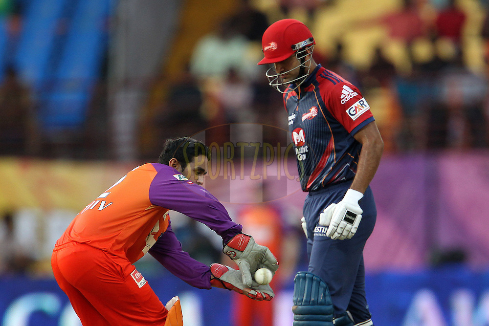 Parthiv Patel and Irfan Pathan during match 36 of the Indian Premier League ( IPL ) Season 4 between the Kochi Tuskers Kerala and the Delhi Daredevils held at the Kallor Jawaharlal Nehru International Stadium in Kochi, Kerala  India on the 30th April 2011..Photo by Ron Gaunt/BCCI/SPORTZPICS