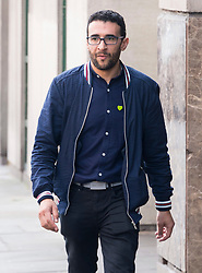 © Licensed to London News Pictures. 21/05/2018. London, UK. Grenfell Tower resident SID-ALI ATMANI arrives for the start of the Grenfell inquiry commemoration hearings. Each of the 71 victims of the Grenfell Tower fire will be commemorated to mark the start of evidence being heard by the public inquiry into the tragedy. Photo credit: Ray Tang/LNP
