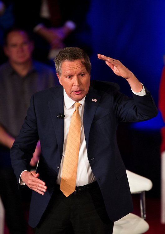 Republican U.S. Presidential candidate John Kasich (R-OH) speaks at the CNN Town Hall at Riverside Theater in Milwaukee, Wisconsin March 29, 2016. REUTERS/Ben Brewer