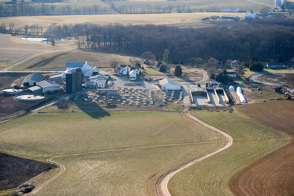 Aerial of a Harford county farm in MD