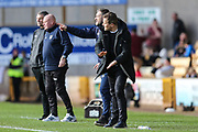 Forest Green Rovers manager, Mark Cooper and Forest Green Rovers assistant manager, Scott Lindsey during the EFL Sky Bet League 2 match between Port Vale and Forest Green Rovers at Vale Park, Burslem, England on 23 March 2019.