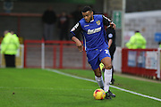 Ryan Jonhson of Stevenage during the Sky Bet League 2 match between Crawley Town and Stevenage at the Checkatrade.com Stadium, Crawley, England on 26 December 2015. Photo by Phil Duncan.