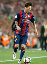 30.05.2015, Camp Nou, Barcelona, ESP, Copa del Rey, Athletic Club Bilbao vs FC Barcelona, Finale, im Bild FC Barcelona's Leo Messi // during the final match of spanish king's cup between Athletic Club Bilbao and Barcelona FC at Camp Nou in Barcelona, Spain on 2015/05/30. EXPA Pictures &copy; 2015, PhotoCredit: EXPA/ Alterphotos/ Acero<br /> <br /> *****ATTENTION - OUT of ESP, SUI*****