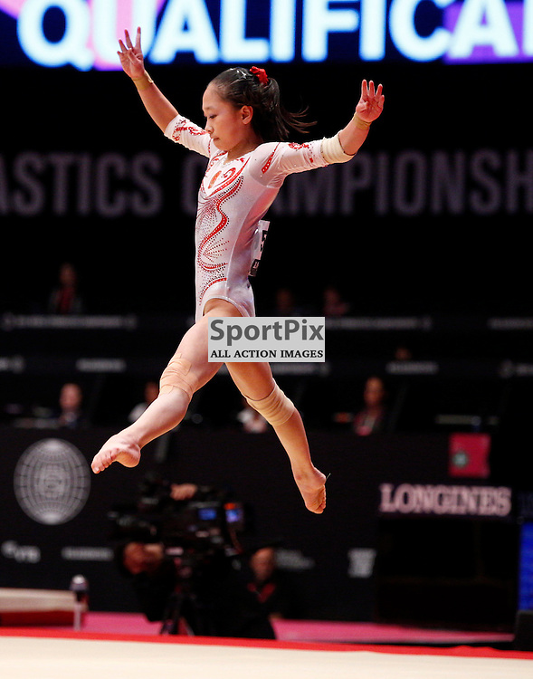 2015 Artistic Gymnastics World Championships being held in Glasgow from 23rd October to 1st November 2015...Siyi Chen (Peoples Republic of China) competing in the Floor Exercise competition...(c) STEPHEN LAWSON | SportPix.org.uk