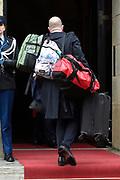 Prinses Beatrix geeft in het Koninklijk Paleis in Amsterdam een verjaardagsontvangst voor familie, vrienden en bekenden. Prinses Beatrix werd afgelopen woensdag tachtig jaar en vierde haar verjaardag in besloten kring.<br /> <br /> Princess Beatrix gives a birthday reception for family, friends and acquaintances at the Royal Palace in Amsterdam. Princess Beatrix was eighty years old last Wednesday and fourth birthday in private.<br /> <br /> Op de foto / On the photo: Koffers van de Prinsessen / Suitcases of the Princesses