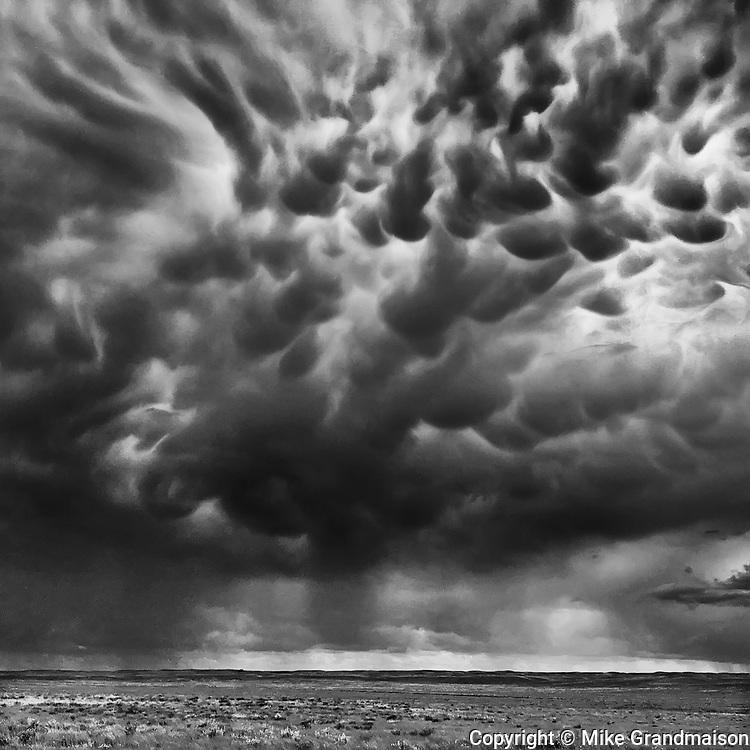 Strom clouds on the prairie