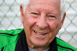 Aubrey Cashman, 79 has been officiating soccer matches for more than 25 years. Originally from Belfast, IRE, the seven time grandfather who spends his winters in Florida, runs up and down the field better than most men half his age. <br /> <br /> Cashman and his team consisting of 70 year old Henry Woo, and the pup in his fifties Frank LaBoone worked soccer matches between Lexington Catholic and Henry Clay, Tuesday, Aug. 13, 2013 at Lexington Catholic Soccer/Football Stadium in Lexington. Photo by Jonathan Palmer